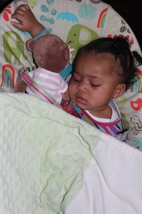 Baby Quinn, Mia the Monkey & Best Friend Binkie