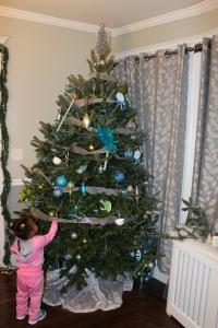 Quinn Examining B.G.'s Ornaments
