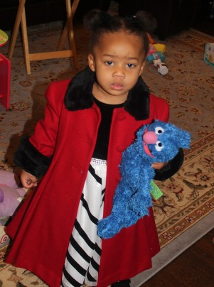 Quinn with Grover