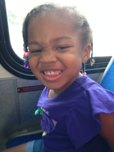 Quinn on First Bus Ride