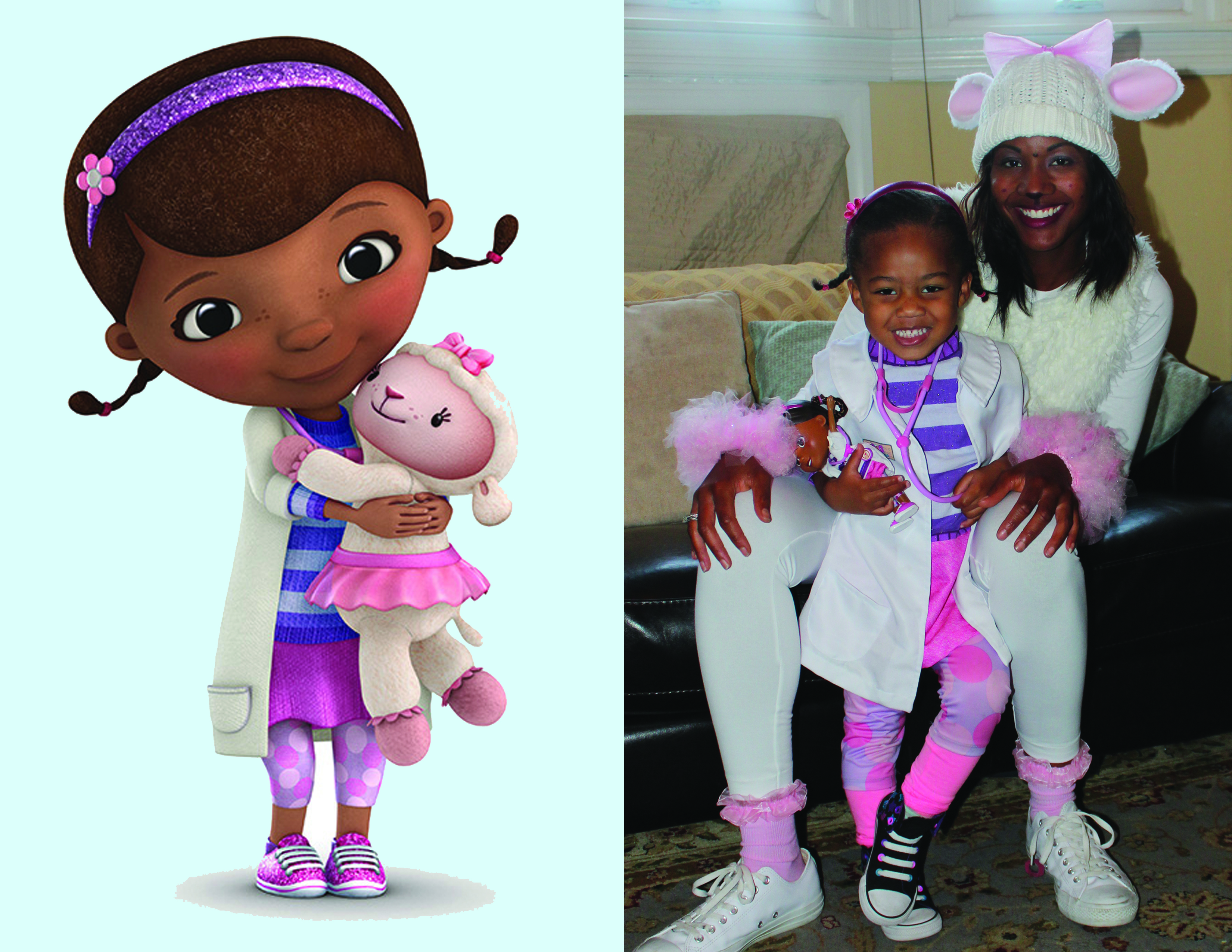halloween fun with mother and daughter doc mcstuffins and lambie