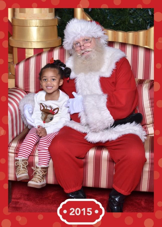 Quinn and Santa