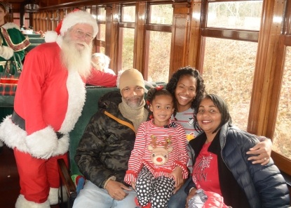 train ride with santa